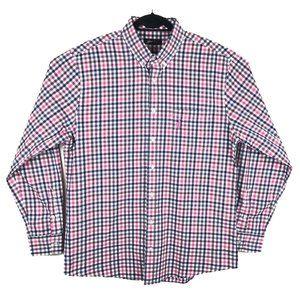 Johnnie-O Mens Plaid Long Sleeve Button Shirt XL